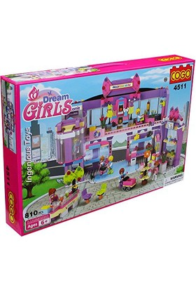 Cogo Lego Prensesin Seti Prensesler Alışveriş Merkezinde 810 Parça