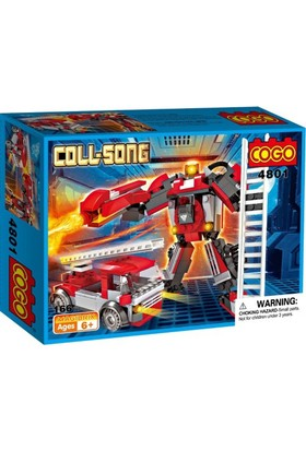 Cogo Lego Transformers İtfaiye Aracı Robot 166 Parça