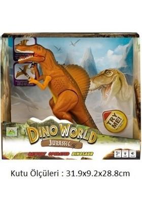 Dino World Pilli Yürüyen Kükreyen Dinazor (Turuncu)