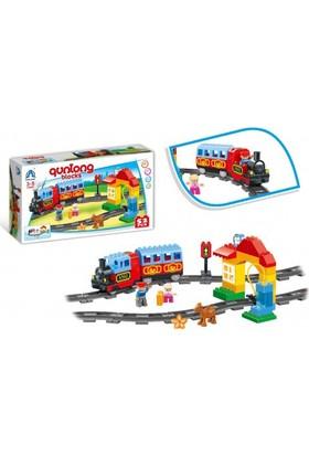 Qunlong Lego Benzin İstasyonlu Tren Seti