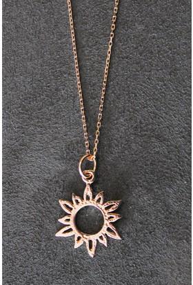 Bella Gloria Güneş Rose Gümüş Kolye (Tgk0293)