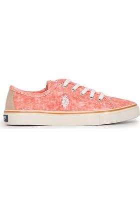 U.S. Polo Assn. Kadın Helen-Int Sneaker Ayakkabı Kırmızı