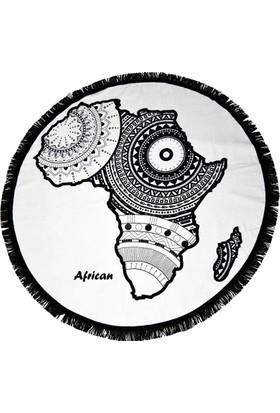 Just Bohem Afrika Yuvarlak Plaj Havlusu