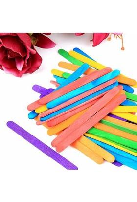 Elif Renkli Dondurma Çubukları 50'Li Paket