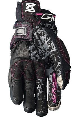 Five Gloves Stunt Evo Replica Woman Bayan Eldiven Flower Pink