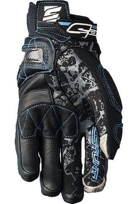 Five Gloves Stunt Evo Replica Woman Bayan Eldiven Flower Blue