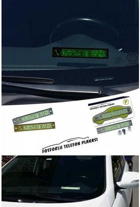 Arsevi Araç İçi Fosforlu Telefon Plakası