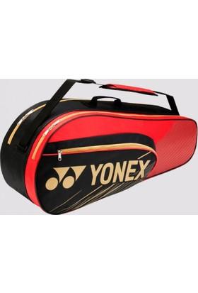 Yonex Team 4726 6'Lı Tenis Badminton Çantası Siyah Kırmızı