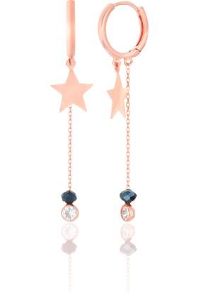 Azuris 925 Ayar Gümüş Sallantılı Yıldız Küpe