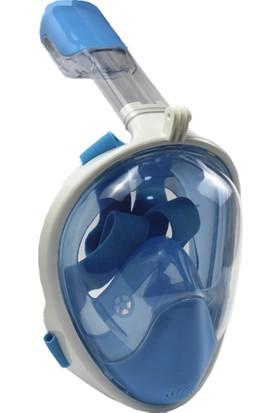 Apprise Aksiyon Kamera Takılabilir Dalış Şnorkel Maskesi - Mavi