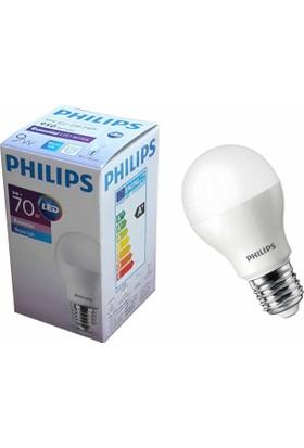 Philips 9 W. (70 W.) Essential Led Ampul E27 Duylu Beyaz Işık (12 Adet)