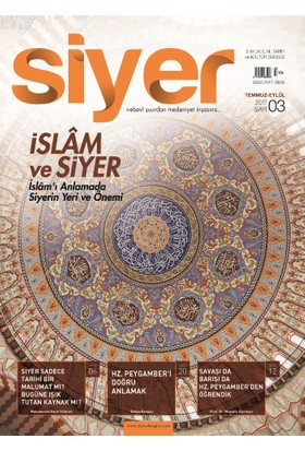 Siyer İlim Tarih Ve Kültür Dergisi 3 Sayı
