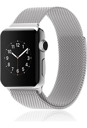 Markacase Apple Watch Series 2 42 Mm İçin Mıknatıslı Çelik Kayış Kordon Milanese Loop