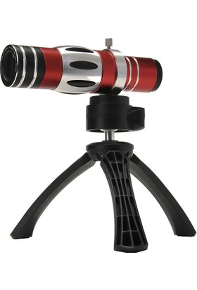 Markacase 18X Zoom Ve 150X Macro Telefon Kamera Lens Seti Tripodlu