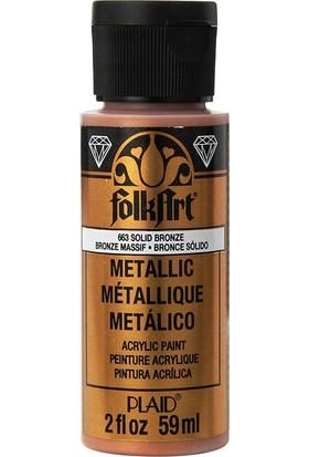 Plaid Folkart Metalik Akrilik Boya 59 Ml - 663 Solid Bronze