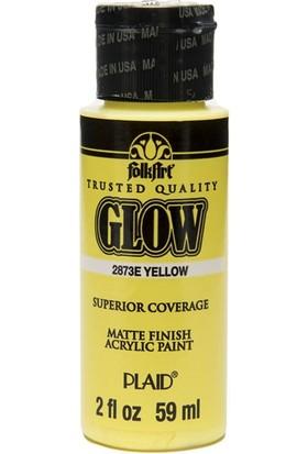 Plaid Folkart Fosforlu Akrilik Boya 59 Ml - 2873 Yellow