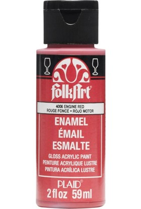 Plaid Folkart Enamel Akrilik Boya 59Ml. N:4006 Engine Red