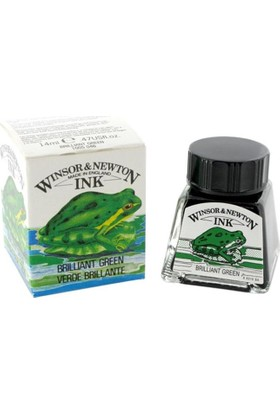 Winsor & Newton Çini Mürekkebi 14Ml - Brilliant Green