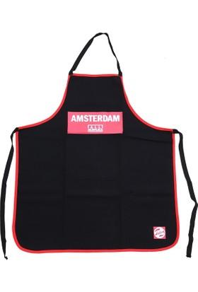 Talens Amsterdam Yetişkin Boyama Önlüğü Kırmızı-Siyah