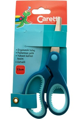 Caretta Okul Makası Cetvelli 13Cm - Mavi
