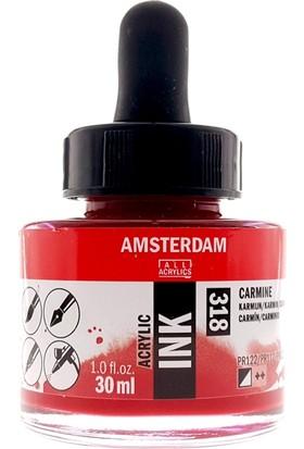 Talens Amsterdam Akrilik Mürekkebi 30Ml - N:318 Carmine