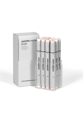 Stylefile Marker Brush 12'Li Skin Set