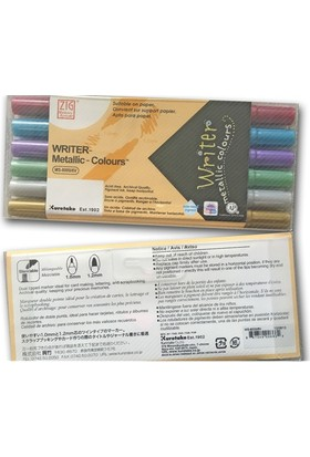Zig Davetiye Kalemi Metalik Renkler - 6Lı Set Ms-8000/6V