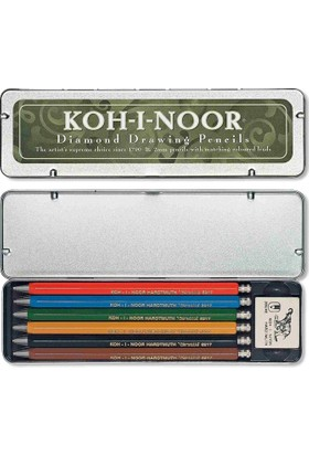 Koh-İ Noor 6Lı Versatil Kalem Seti - Diamond Drawing Pencils 5217