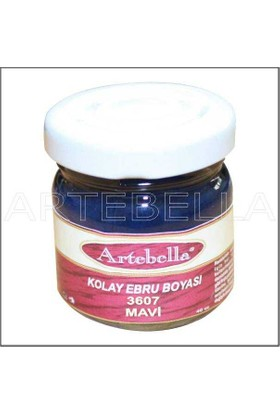 Artebella 3607 Mavi Kolay Ebru Boyası 40Cc