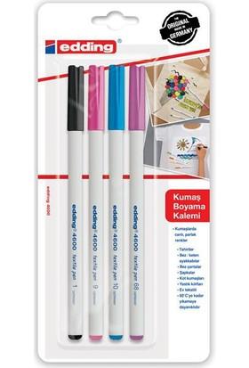 Edding 4600 Kumaş Boyama Kalemi Seti 4'Lü - Eğlenceli Renkler