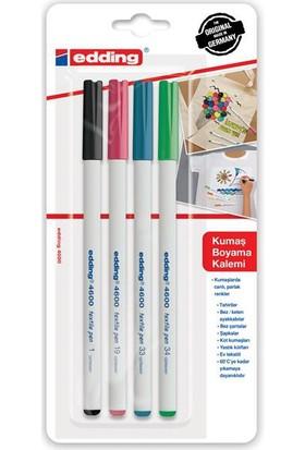 Edding 4600 Kumaş Boyama Kalemi Seti 4'Lü - Pastel Renkler