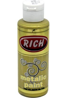 Rich Metalik Akrilik Boya 130Cc. N:724 Klasik Altın