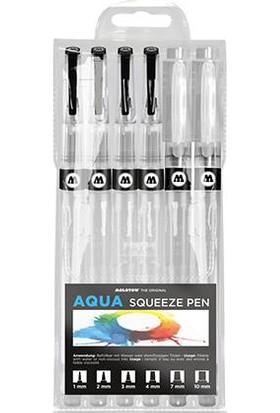 Molotow Su Hazneli Fırça Uçlu Kalem Seti - 6 Kalınlık