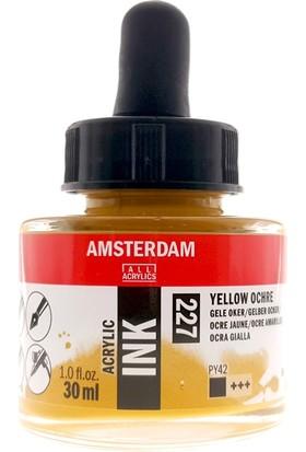 Talens Amsterdam Akrilik Mürekkebi 30Ml - N:227 Yellow Ochre
