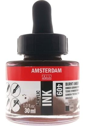 Talens Amsterdam Akrilik Mürekkebi 30Ml - N:409 Burnt Umber