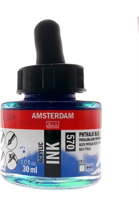 Talens Amsterdam Akrilik Mürekkebi 30Ml - N:570 Phthalo Blue