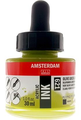 Talens Amsterdam Akrilik Mürekkebi 30Ml - N:621 Olive Green Light