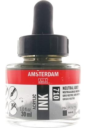 Talens Amsterdam Akrilik Mürekkebi 30Ml - N:710 Neutral Grey