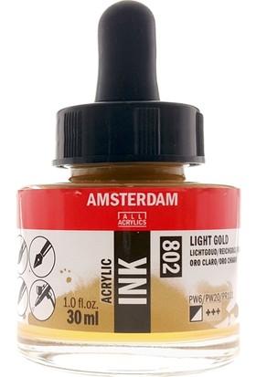 Talens Amsterdam Akrilik Mürekkebi 30Ml - N:802 Light Gold