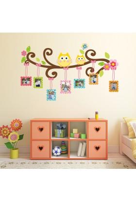 DekorLoft Neşeli Baykuşlar Fotoğraf Albümü Çocuk Odası Duvar Sticker Set CS-345