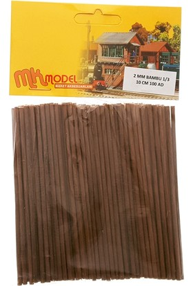 Mk Model Bambu Çıta 2Mm 1/3 10Cm 100 Adet