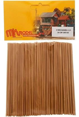 Mk Model Bambu Çıta 2Mm 1/1 10Cm 100 Adet