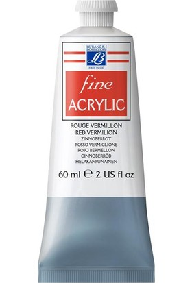 Lefranc & Bourgeois Fine Akrilik Boya 60Ml N:393 Red Vermilion