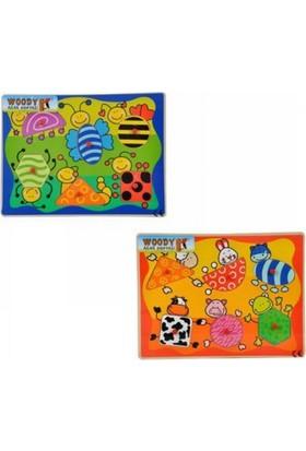 Woody Tahta Bultak Şekiller Hayvanlar-Sebzeler Bj-23S00006180
