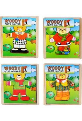 Woody Tahta Elbise Giydirme Ayı Ahşap Kutulu Bj-23S00003415