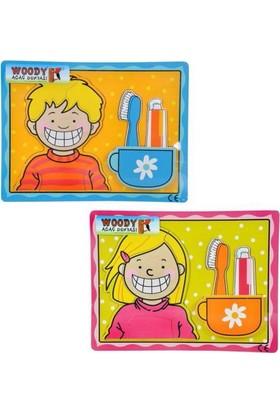 Woody Tahta Puzzle 10 Parça Kabartma Diş Fırçası Bj-23S00006728
