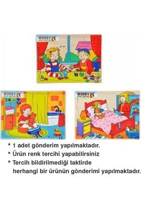 Woody Tahta Puzzle 12 Parça Oyun - Tuvalet - Uyku Bj-23S00006703