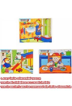Woody Tahta Puzzle 12 Parça Yatak Odası - Banyo - Kahvaltı Bj-23S00006321