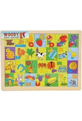 Woody Tahta Puzzle Alfabe Resimli Bj-23S00004438