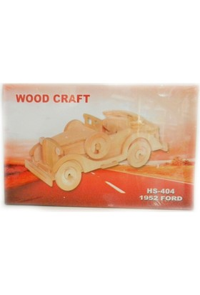 Woodoy Ahşap Puzzle 1952 Ford Bj-18404